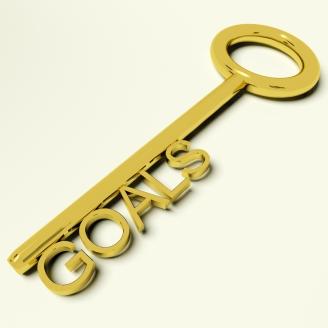 Goals Key Representing Aspirations And Targets